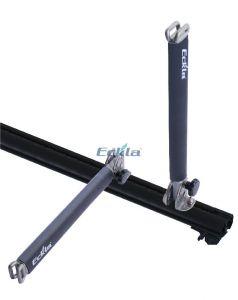 Multi Aluminium  Senkrechtstütze  abklappbar  2 Stück  40 cm hoch  mit 2- facher Gurtöse  für Kajaks, Surfboards oder auch andere Gegenstände