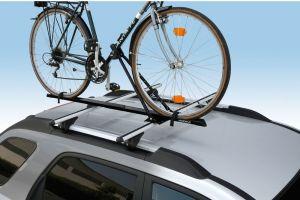 Nordrive - Bike One Radhalter, abschließbar, stabil und preiswert, auch für dicke Fahrradrahmen geeignet, für alle Grundträger passend, inkl. Adapter für Träger mit Nutenmontage