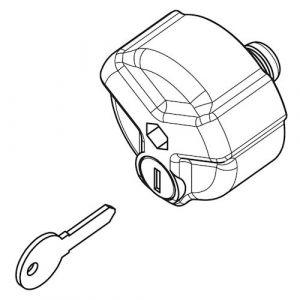 1 Stück Abschließbare Knebelmutter für die Delta Träger A2D/A3D/A4D, AB2D/AB3D/AB4D, C2D/C3D, E2D/E3D/E4D