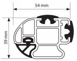 Dachträger Opel Vivaro B (07/2014 bis...) , normales Dach H1, Länge L1/L2, 3 Trägerbarren, - KARGO PLUS Aluminium Schwerlastträger