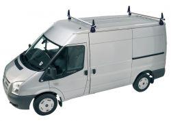 Dachträger Ford Transit (2000 bis 2014),  Mittelhochdach H2, Länge /L2/L3/L4/,  2Trägerbarren  - DELTA Schwerlastträger