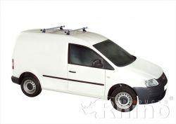 Dachträger VW Caddy  (2004 bis 10/2010), normales Dach H1, Länge L1,  keine Leiterrolle möglich,  2 Trägerbarren  - DELTA Schwerlastträger