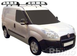 Fiat Doblo Maxi  (2010 bis...), Normales Dach H1 Länge L2, mit Flügeltüren,  2,4  x 1,25 Meter - Aluminium Schwerlastkorb inkl. Edelstahl Aufschubrolle