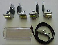Senkrechtstütze  4 Stück für  Aluträger mit  T- Nutensystem von  21 x 4 mm bis 25 x 10  für 1 Paar Ski  Surfmasten  oder andere Lasten  Höhe 5 cm