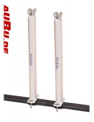 Multi Aluminium  Senkrechtstütze  2 Stück  40 cm hoch  mit 2- facher Gurtöse  für Kajaks, Surfboards oder auch andere Gegenstände