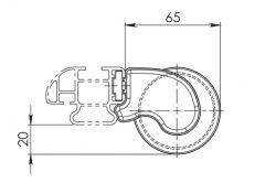 Leiterrolle (64cm breite) für Nordrive KARGO-PLUS Trägerbarren