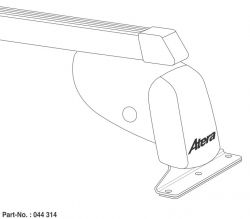 Dachträger Nissan NV300 (2016 bis...) , normales Dach H1, Länge L1/L2, 1 Trägerbarren - ATERA Grundträger