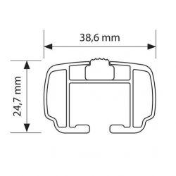 NORDRIVE NOWA Aluminium Grundträger für Mercedes GLC X253/204X 09/2015 bis ...