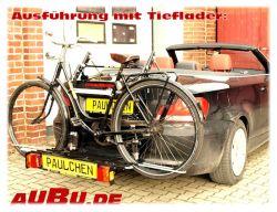 Paulchen Grundträger für BMW 1er Cabrio Typ E 88 Bj. 03/2008 bis 2011 Grundträger inkl. Tieflader verstärkt/Controler Grundträger muss noch mit dem Radzubehör ergänzt werden !!