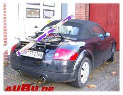 Paulchen Grundträger für Audi TT Roadster 10/1999 bis 01/2007 mit und ohne Spoiler Grundträger mit Gepäckstreben zum Koffertransport (kein Ski/Radtransport !!) NICHT FÜR 6 ZYLINDER 3.2!!!