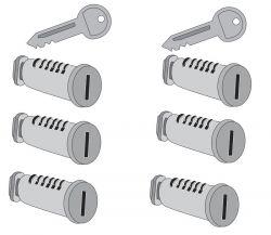6 Schlösser  2 Schlüssel  für Atera Strada, Evo,  Vario, Giro,  Speed und Nova