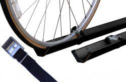 Fahrradzubehör Economy Class für 2 Fahrräder (Paulchen) - schwarz gepulvert