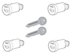 4 Schlösser  2 Schlüssel  für Nordrive Dachträger