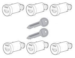 6 Schlösser  2 Schlüssel  für Nordrive Dachträger