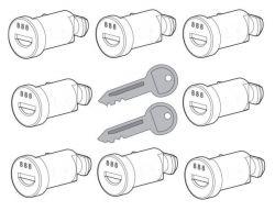 8 Schlösser  2 Schlüssel  für Nordrive Dachträger
