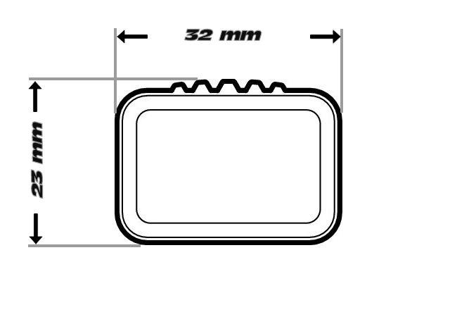 4-kant Barren (32x23mm)