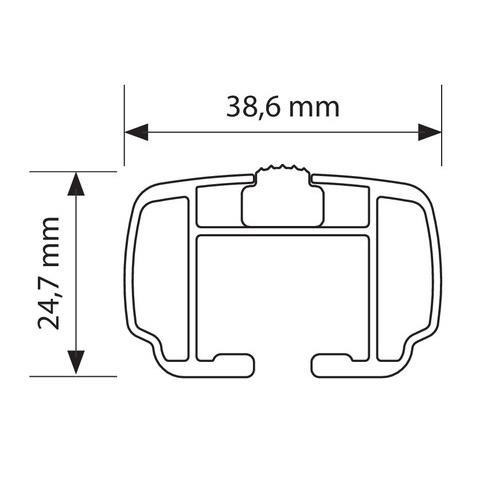 Nordrive 4-kant-Aluprofil (39x25mm)